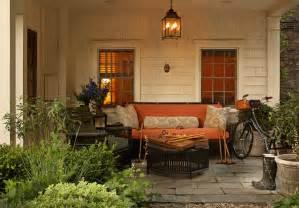 Orange Patio by Black Wicker Furniture Cottage Deck Patio Jean Randazzo