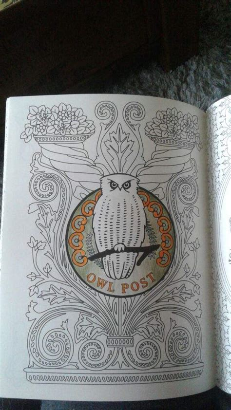 harry potter coloring book owl post harry potter colouring book owl post harry potter amino