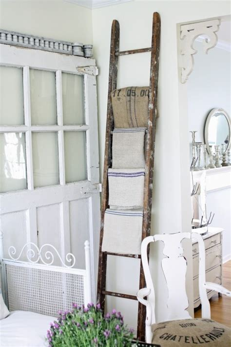 Home Decor Ladder | dishfunctional designs old ladders repurposed as home decor