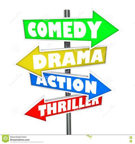 daftar film genre action comedy movie genres poster cartoon vector illustration vector