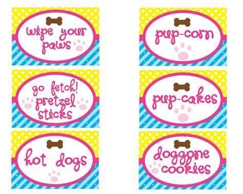 printable puppy birthday decorations puppy party printables birthday parties moms munchkins