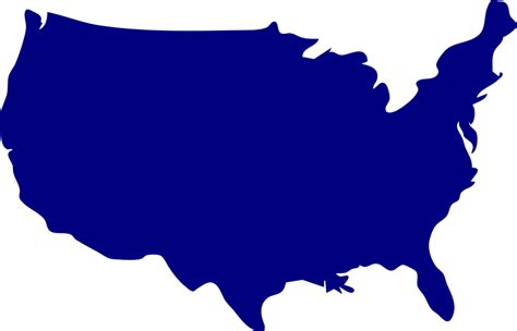 usa map graphic maps of us outline blue png cdoovision