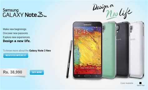 galaxy note 3 launch in galaxy note 3 neo now available in india for rs 38 990 sammobile sammobile