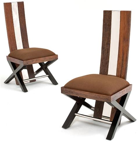 Modern Wood Dining Chair Reclaimed Wood Dining Chair Rustic Modern Dining Chair Eco Friendly