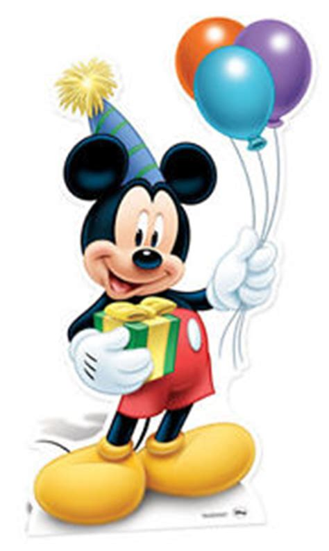 Mickey Mouse Home Decorations by Mickey Mouse Holding Balloons Party Lifesize Cardboard