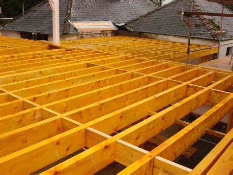 Eco House Robison Construction House Floor Joists Construction