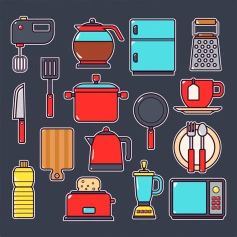 dibujos infantiles utensilios de cocina colecci 243 n de elementos de cocina descargar vectores gratis