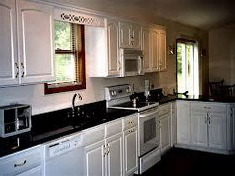 kitchen cabinets painted white black countertop home interior design