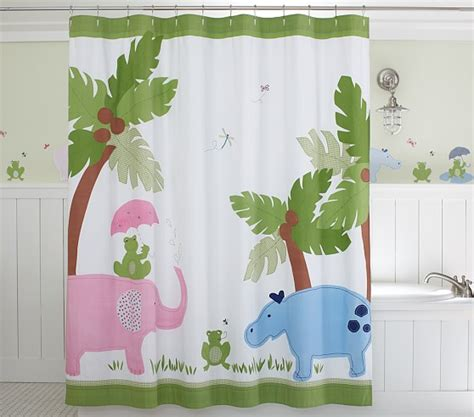 kid bathroom shower curtains taylor shower curtain pottery barn kids
