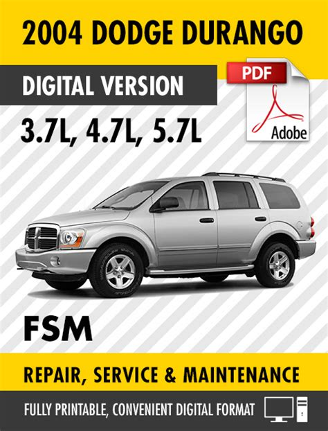 service manual 2004 dodge durango auto repair manual free 2004 dodge durango truck suv service manual 2004 dodge durango auto repair manual free
