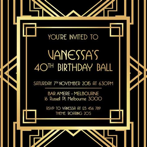 Gatsby Invite Template best 25 great gatsby invitation ideas on