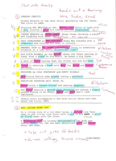 script breakdown template how to do a script breakdown