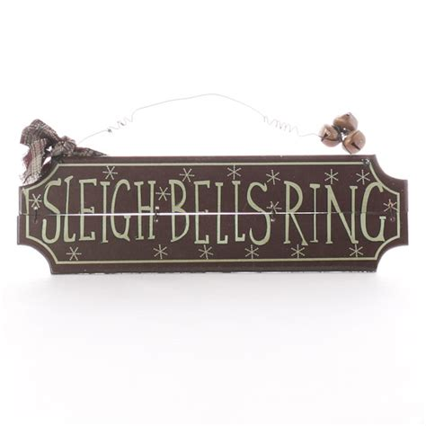 vintage wooden signs home decor vintage quot sleigh bells ring quot wood sign signs ornaments