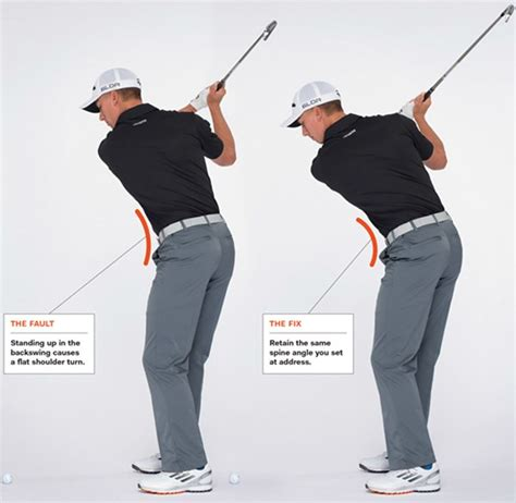 shoulder position in golf swing hank haney stay in posture to hit it pure golf digest