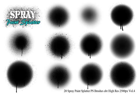 spray paint brushes photoshop free 20 spray paint splatter ps brushes vol 4 free photoshop
