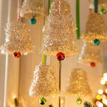 how to make christmas bells at home tinsel bell ornaments family crafts