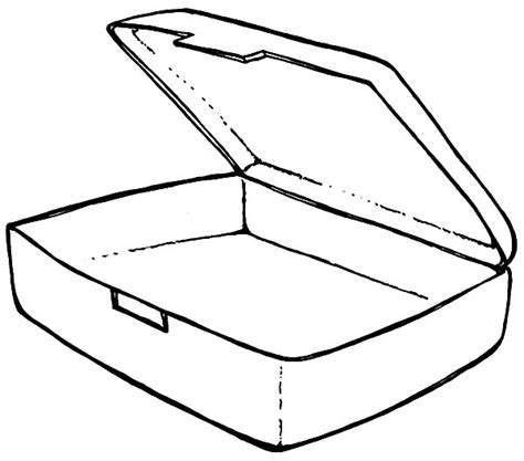 empty lunchbox coloring pages empty lunchbox coloring
