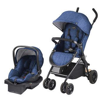 car seat travel cart evenflo evenflo sibby travel system with litemax car seat slate blue