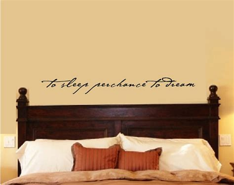 Bedroom Wall Stickers Quotes by Bedroom Wall Decal Bedroom Decor Shakespeare Quote To Sleep