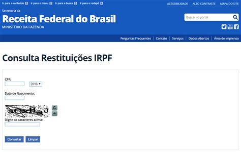 consulta processamento imposto renda 2016 irpf 2018 restitui 231 227 o tabela e declara 231 227 o