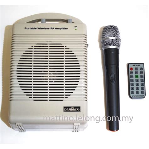 Speaker Portable Lifier Wireless Pa 15 E 15 Inch danmax portable vhf wireless pa end 9 13 2018 10 15 pm