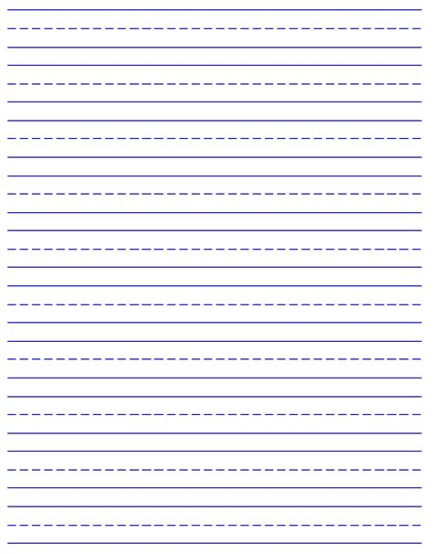 free printable elementary handwriting paper writing paper printable for kids kiddo shelter