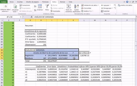 tutorial excel regresion lineal excel 2010 regresi 243 n lineal m 250 ltiple prueba hip 243 tesis