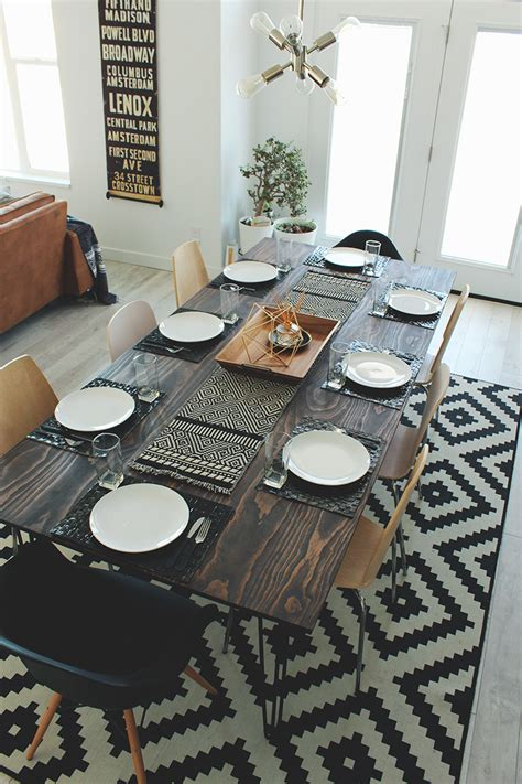 diy kitchen table on a budget the home depot