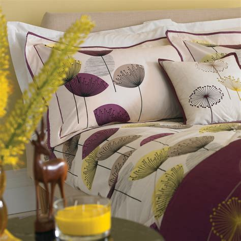 dandelion bedding sanderson bedding damson dandelion clocks bedding curtains at bedeck home