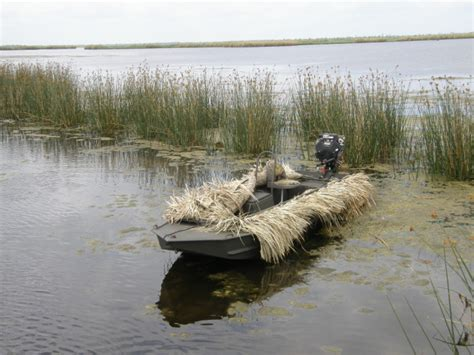 duck hunting boat with blind grass blinds go devil manufacturers