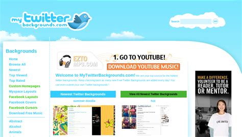 layout maker for twitter 5 free online twitter background generators design to html