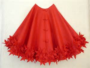60 christmas tree skirt in red glitter felt with by