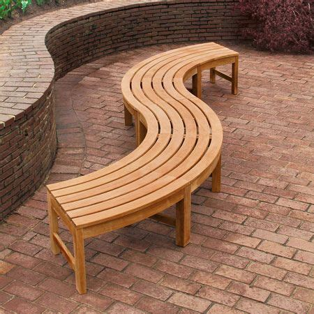 curved teak benches for gardens 17 best ideas about curved bench on pinterest curved