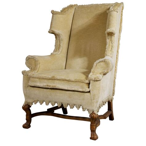 William And Chair william and revival style wing chair at 1stdibs