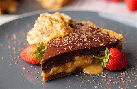 simon rimmer banana  chocolate tart recipe  sunday