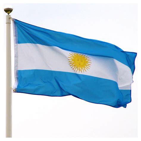 Display Case Lighting Argentina Flag 3ft X 5ft Super Knit Polyester