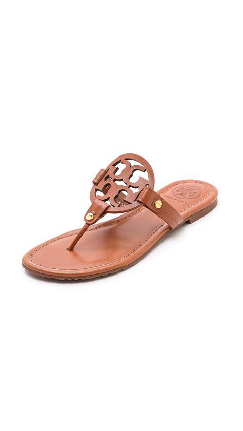 burch miller sandals on sale burch miller logo sandals in brown vintage vachetta