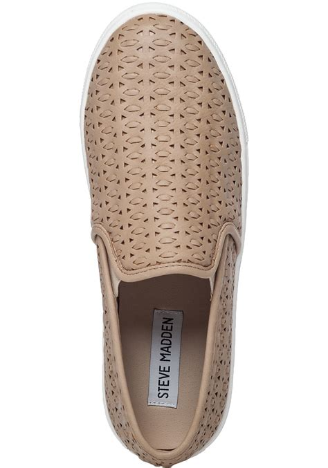 Sneakers Excel lyst steve madden excel slip on sneakers in brown for