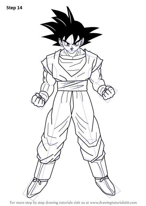 Drawing Goku by Learn How To Draw Goku From Z Doraemon Step