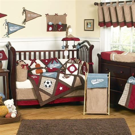 sports baby bedding jojo designs all star sports 9pc crib bedding set baby