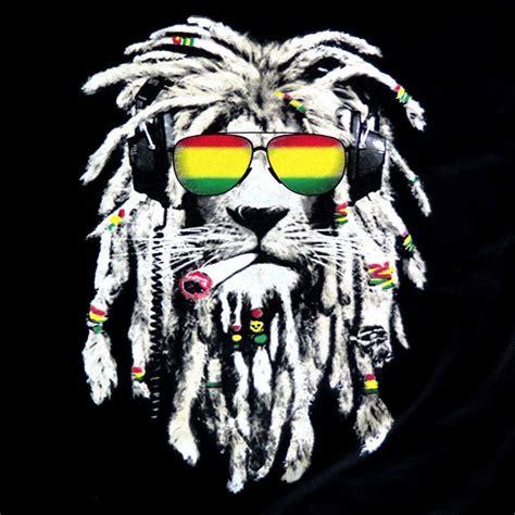 rasta lion reggae smoke blunt marijuana weed mens 100