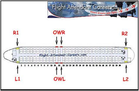 flight attendant positions on board dictate an area of