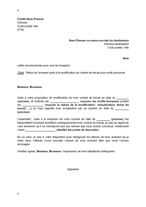 letter of application modele de lettre d engagement de