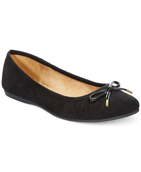 pointe shoe inspired flats style co addia ballet flats only at macy s in black lyst