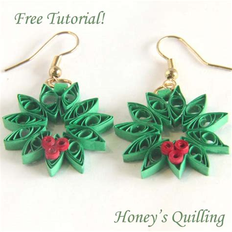 quilling jewellery tutorial for beginners paper quilling for beginners make an christmas wreath