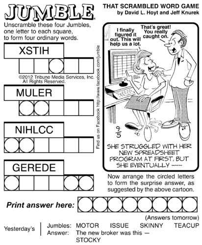 printable word jumble games for adults 7 best images of printable jumble crosswords free