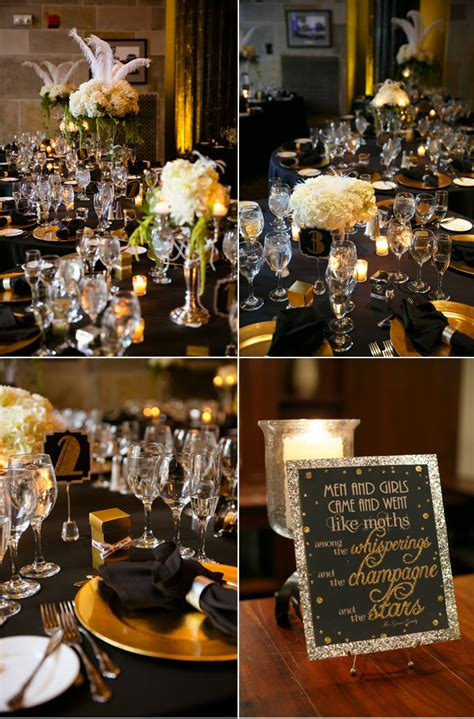 Southern Style Home Decor by Black And Gold Gatsby Inspired Wedding