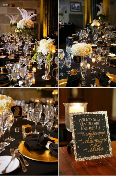 Black and Gold Gatsby Inspired Wedding
