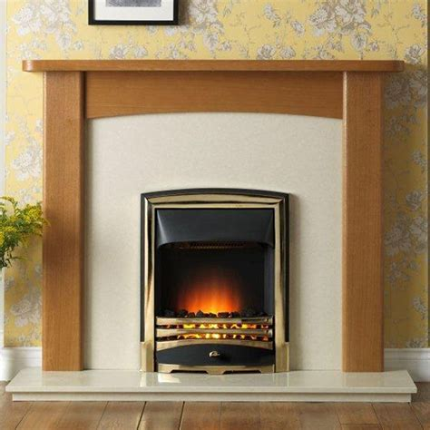 Cheap Gas Fireplace Suites high quality products gallery 54 quot light oak fireplace suite cheap deals