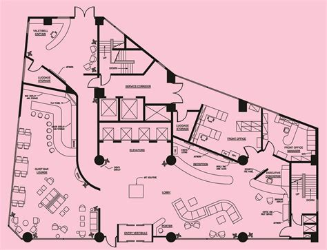hotel reception layout plan gladys mindeman design